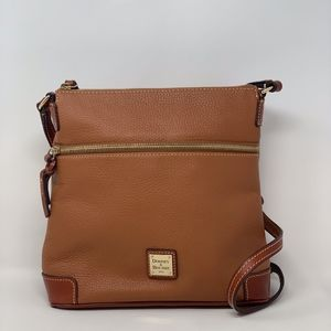 Dooney and Bourke Pebble Leather Crossbody Caramel